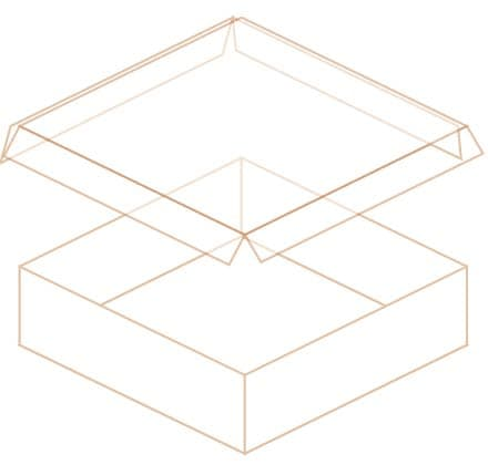 罫線蓋(4方)