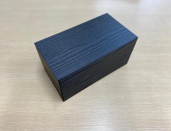 【ご注文可能商品】折箱 黒久松3.5 205×112二段折 上段トレー共蓋面取付