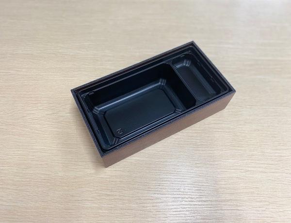 【ご注文可能商品】折箱 AR-302 濃茶 透明フタ付